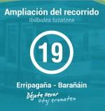 LINEA 19 - AMPLIACIÓN DEL RECORRIDO